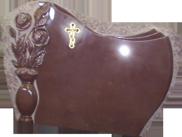 Горизотальный памятник с крестом